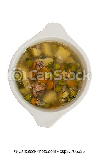 soup with fresh vegetables - csp37706635