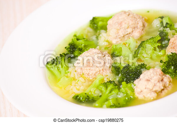 Soup with meatballs - csp19880275