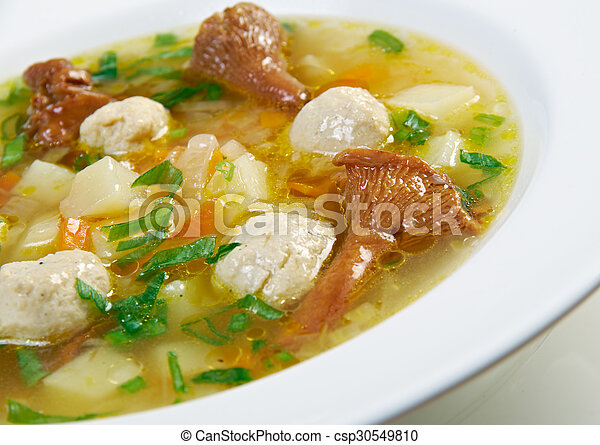 soup with meatballs - csp30549810