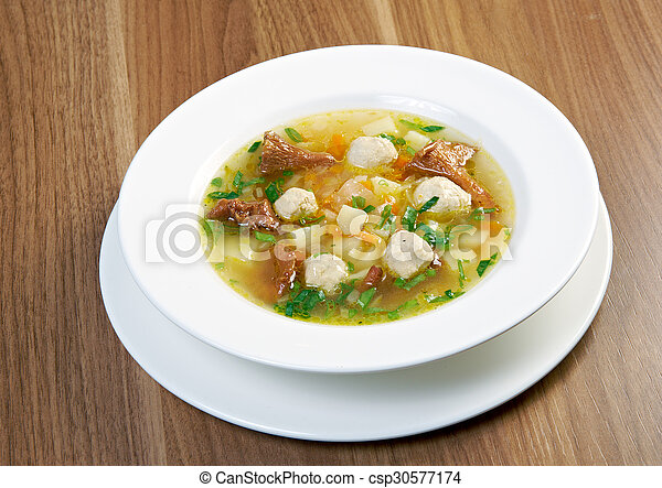 soup with meatballs - csp30577174