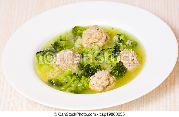 Soup with meatballs - csp19880255
