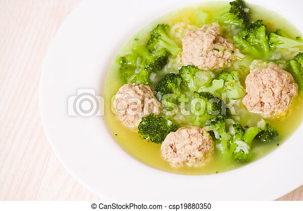 Soup with meatballs - csp19880350