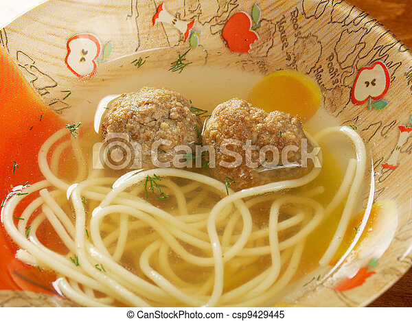 soup with meatballs - csp9429445