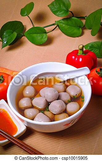 soup with meatballs - csp10015905