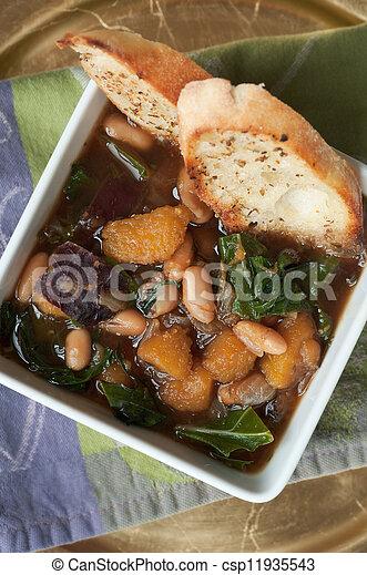 Soupe l gume haricot jardin l gumes soupe haricot - Comment congeler des haricots verts frais du jardin ...