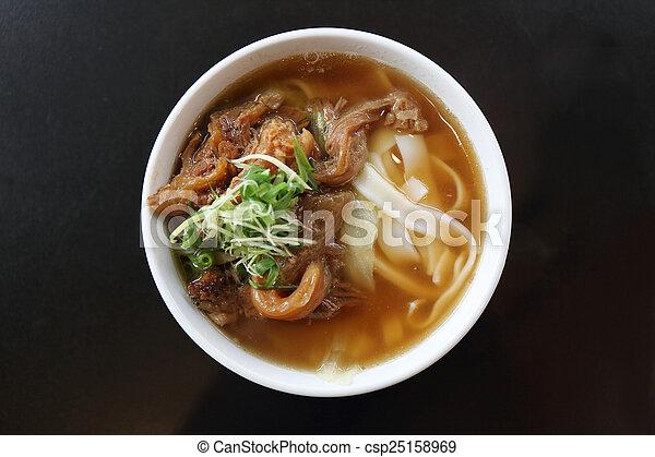 soupe, nouilles, boeuf - csp25158969