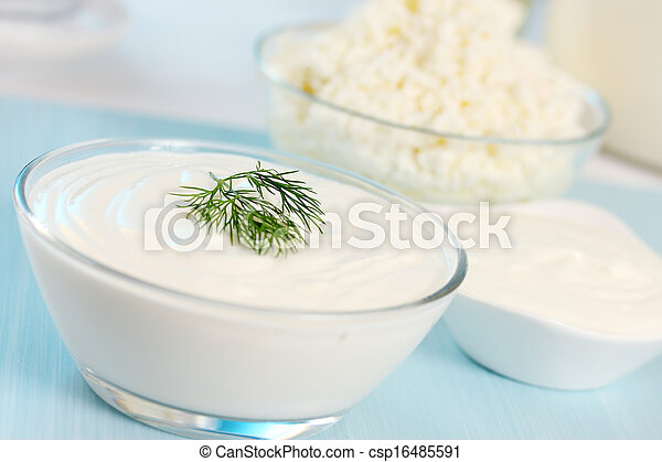 sour cream and dill - csp16485591