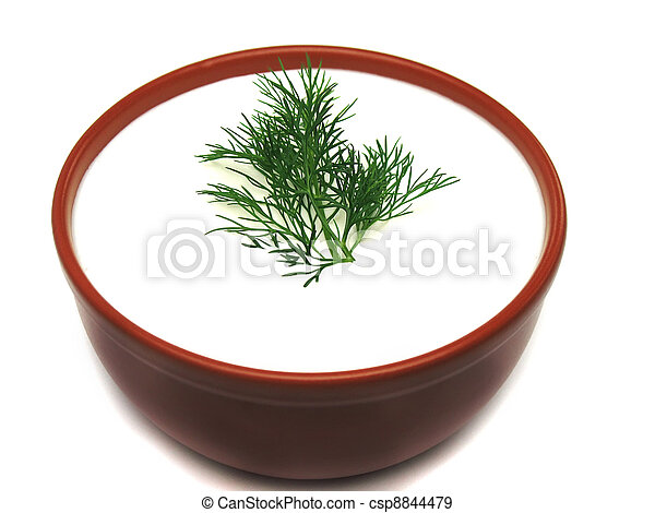 Sour cream and dill - csp8844479