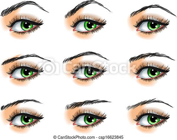 Souvent Vecteur EPS de sourcils, différent, ensemble, neuf csp16623845  MC31