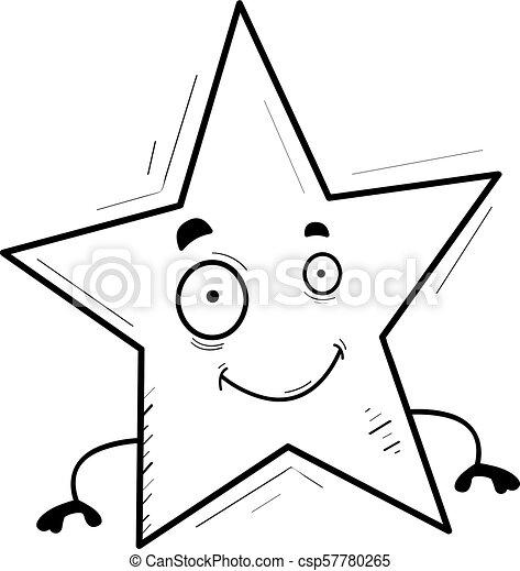 sourire, étoile, dessin animé - csp57780265