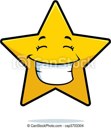 sourire, étoile - csp3703304
