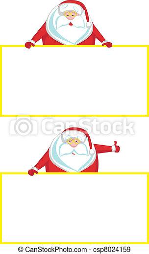 sourire, copie, showi, santa, espace - csp8024159