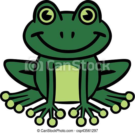 Sourire dessin anim grenouille - Dessin de grenouille verte ...