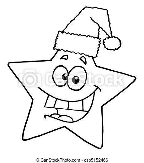 sourire, esquissé, étoile - csp5152466