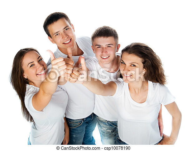 sourire, jeunes - csp10078190