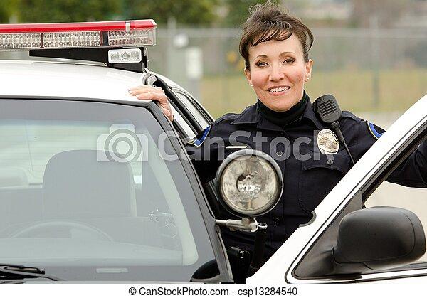 sourire, officier - csp13284540