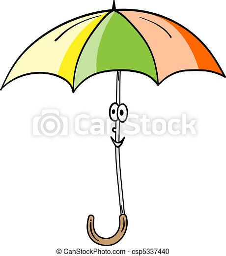 sourire, parapluie - csp5337440