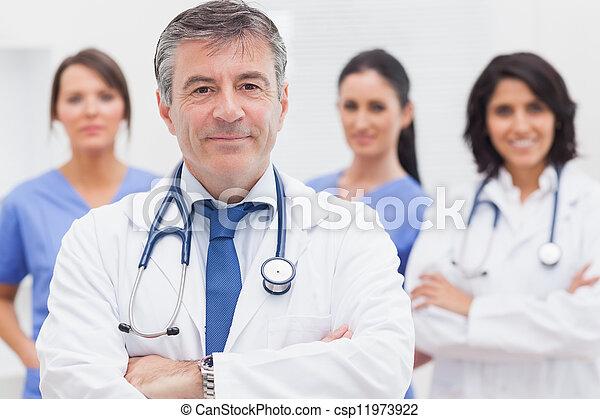 sourire, sien, docteur, équipe - csp11973922