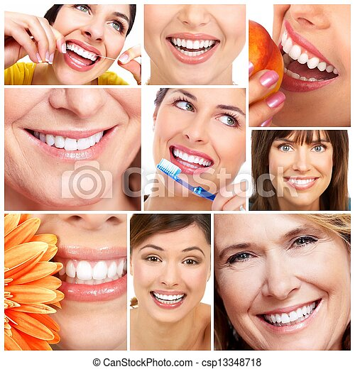 sourire, teeth. - csp13348718
