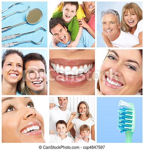 sourires, ans, dents - csp4847597