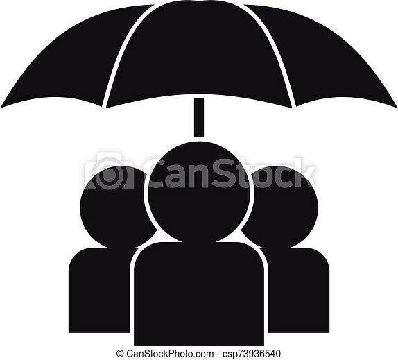 sous, icône, gens, style, parapluie, simple - csp73936540