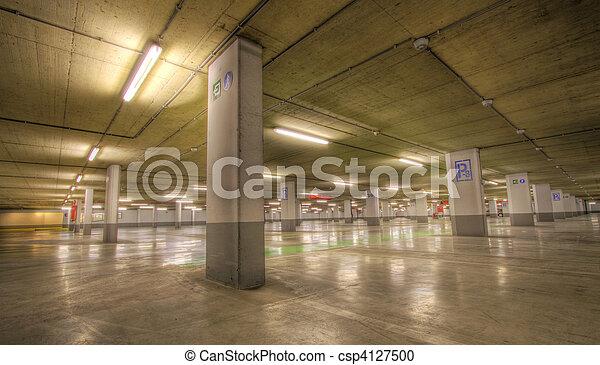 souterrain, garage, stationnement - csp4127500