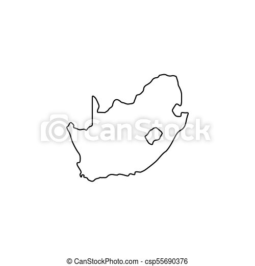 Outline Of Africa Map.Comps Canstockphoto Ca South Africa Map Icon Outli