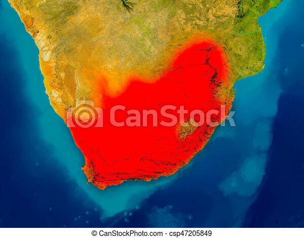 Physical Map Of South Africa.South Africa On Physical Map