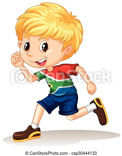 south african boy running illustration vectors search clip art rh canstockphoto com boy running away clipart boy running fast clipart