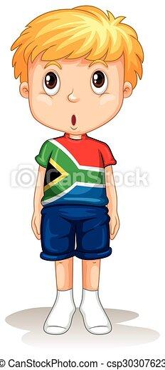 Cartoon Boy Standing On His Hands Stock Vector ... |Clipart Boy Standing