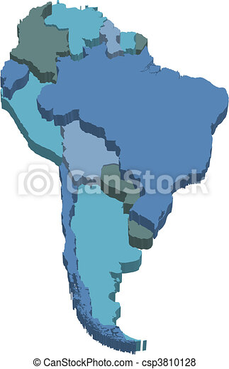 3d Map Of South America.South America 3d Map