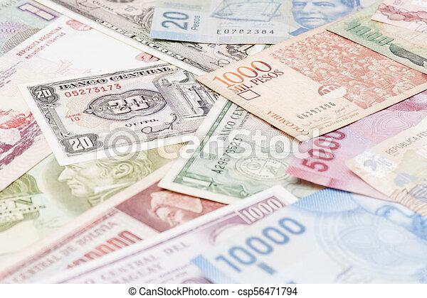 South America currencies - csp56471794