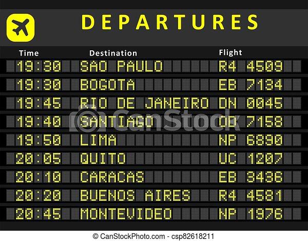 South America departures - csp82618211