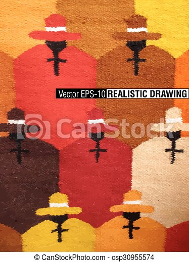 South America Indian woven fabrics - csp30955574