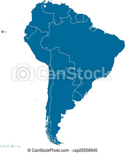 South america map outline political map of south america eps south america map outline csp25558645 gumiabroncs Gallery