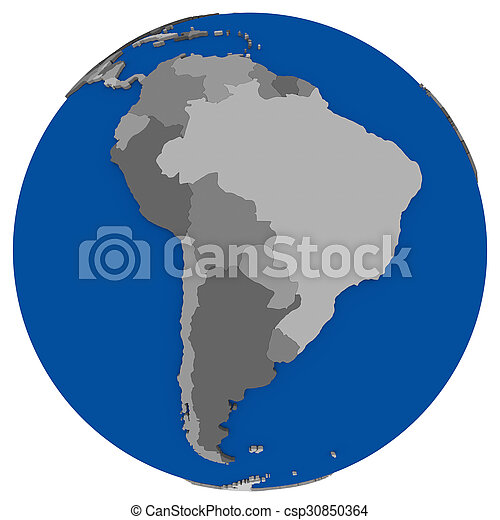 south America on Earth political map on map of antarctica globe, map of pacific ocean globe, map of world globe,