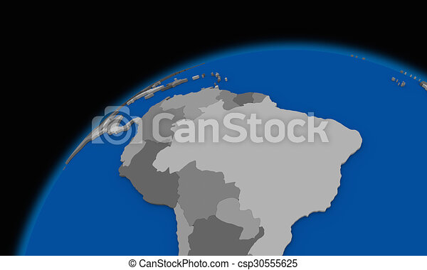 South America On Planet Earth Political Map South America Clip - Earth political map