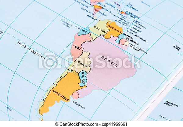 South America Political Map With Labeling