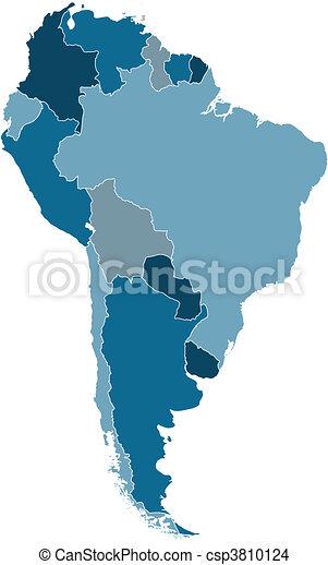 south america vector map - csp3810124