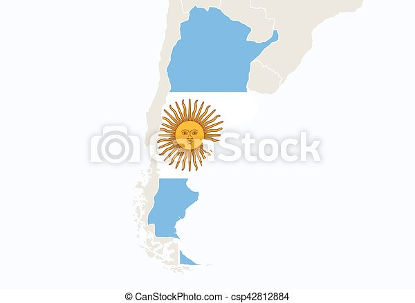 South america with highlighted argentina map vector illustration gumiabroncs Images