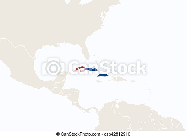 South america with highlighted cuba map vector vector clip art south america with highlighted cuba map vector gumiabroncs Gallery