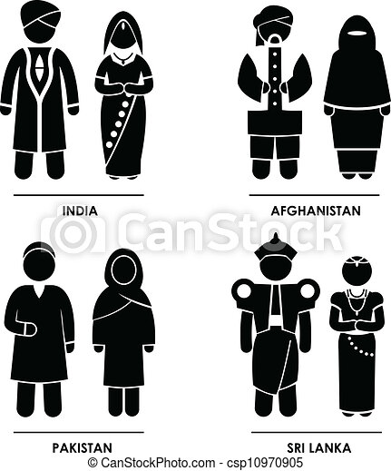 South Asia Clothing Costume - csp10970905