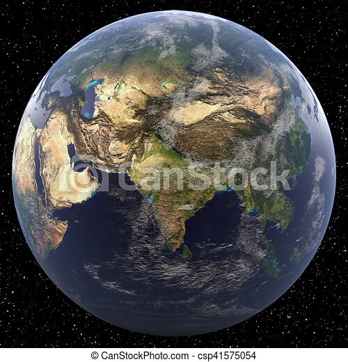 South Asia - Earth from Space - csp41575054