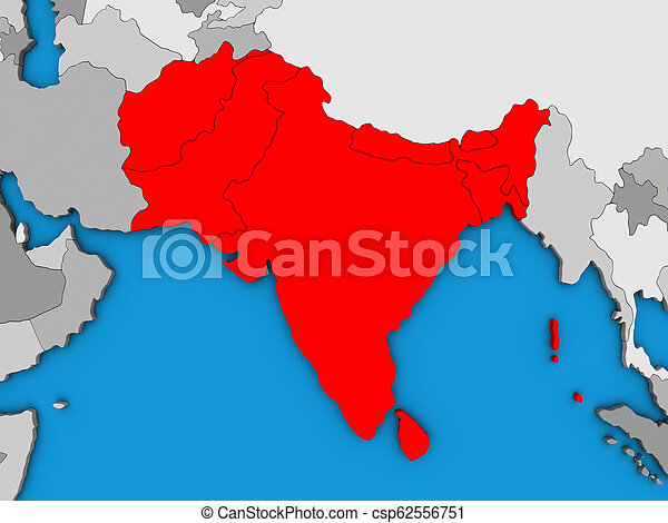 Map Of Asia 3d.South Asia On 3d Map