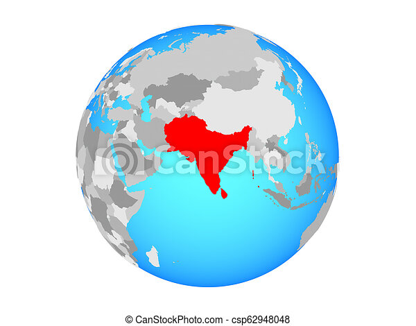 South Asia on globe isolated - csp62948048