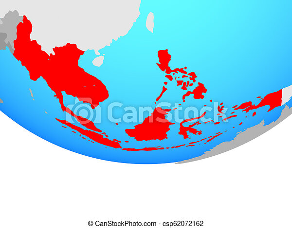 South East Asia on globe - csp62072162