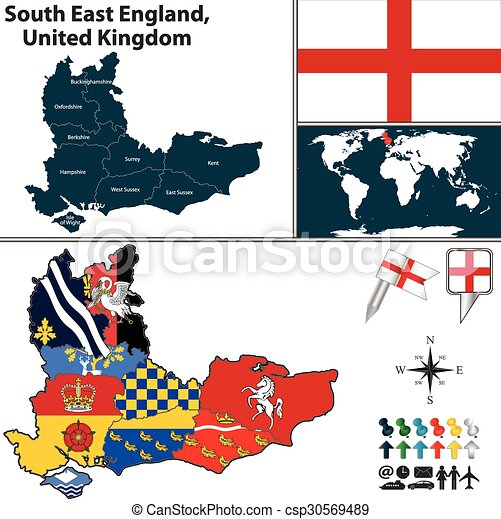 Map Of Southern England Uk.South East England United Kingdom
