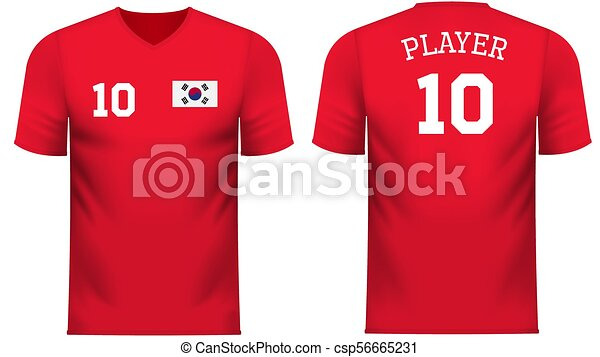 27d59a87e South korea fan sports tee shirt in generic country colors. South ...