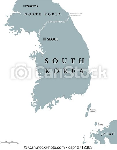 South Korea Political Map South Korea Political Map With Capital