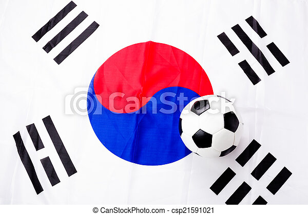 south korean flag and soccer ball stock photo search pictures and